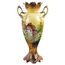 Rs Prussia Mill Scene Vase