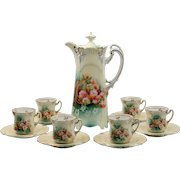 RS Prussia Icicle Mold Basket of Flowers Chocolate Set