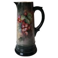 Limoges Style Tankard with Grape decoration