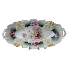 RS Prussia Iris Mold Vegetable Tray