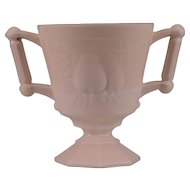 Jeannette Pink Milk Glass Pear Sugar Bowl