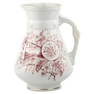 Unique Ironstone Pitcher by EF Bodley & Co. Marked Iolanthe Circa 1862 -1892