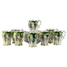 RS Prussia Mold 501 Demitasse Cups and Saucers