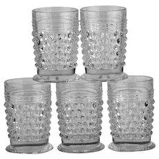 Vintage Hobnail Cordial or Shot Glasses