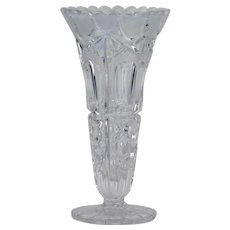 Hofbauer Lead Crystal Frosted Heart Vase