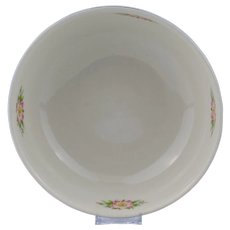 Hall Royal Rose Cadet Blue and White Mixing Bowl
