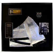 Muhammad Ali Collage with 1960 Olympics Ticket and Letter of Authenticity