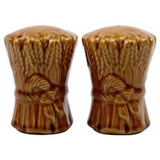 Franciscan Salt and Pepper Shakers in the Brow Wheat Pattern