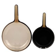 Two Corning Visions Skillets
