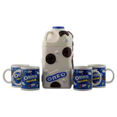 Oreo Milk Bottle Cookie Jar made by Houston Harvest