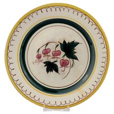 Stangl Terra Rose Garden Flower Salad Plate with the Bleeding Heart Decoration