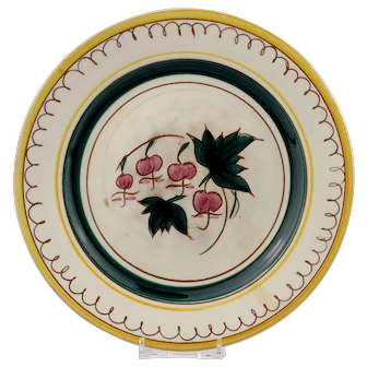 Stangl Terra Rose Garden Flower Salad Plate with the Bleeding Heart Decoration