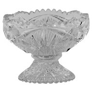Imperial Glass Compote Hobstar and Arches with Sawtooth Rim