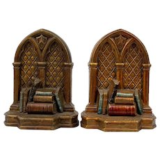 Syroco Wood Library Books Bookends - Red Tag Sale Item