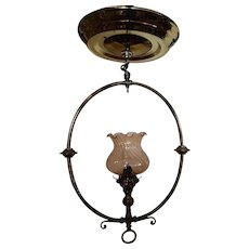Converted Gas Lamp hanging Light