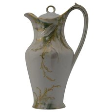 RS Prussia Lily of the Valley Mold Chocolate Pot