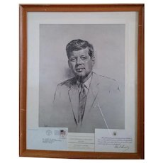 Print of John F. Kennedy from a Charcoal done by Luis Lupas
