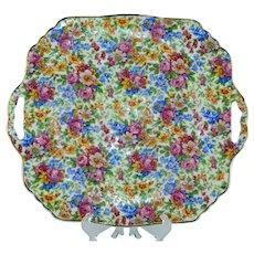 Erphila Czechoslovakia Portland Chintz Cake Plate