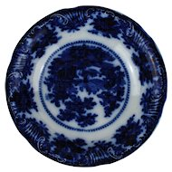 "W Adams ""Fairy Villa"" Flow Blue Bowl"