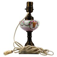 Czechoslovakian Made Electrified Oil Lamp