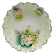 Floral Decorated RS Prussia Bowl Mold #98