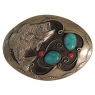 Southwestern Native American Bass Belt Buckle