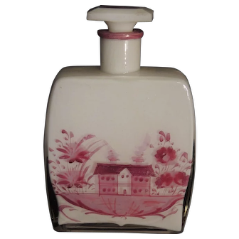 Large Perfume Bottle - Hand Painted