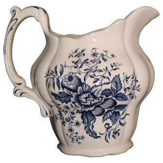 """Booths England """"Peony"""" Pattern Pitcher"""