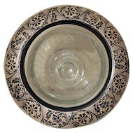 Gold & Black Rim Footed Bowl