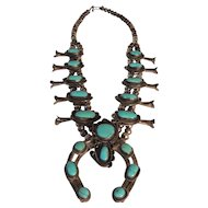 Large Native American Squash Blossom Necklace