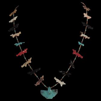 Native American Thunderbird Fetish Necklace