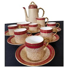 Royal Worcester Demitasse Coffee Tea  Cup Set