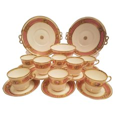Pink Minton Tea Set