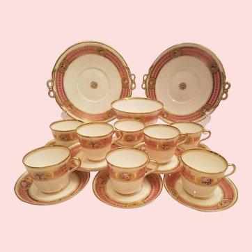 Pink Minton Tea Set For 6