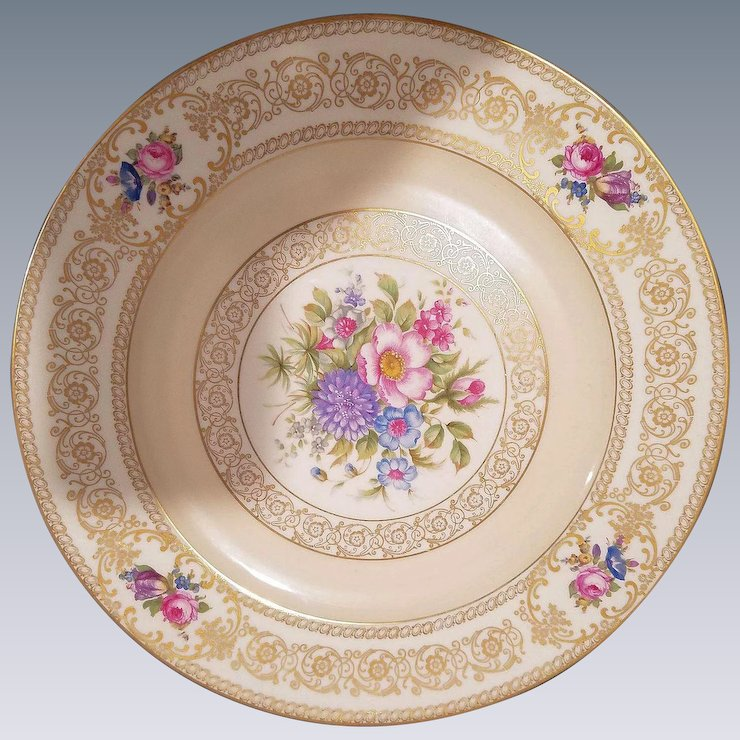 12 Rosenthal Ivory Bavaria Dinner Plates with Hand Painted Floral Design : hand painted dinner plates - pezcame.com