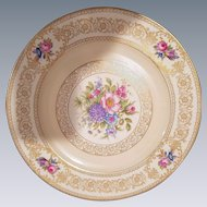 12 Rosenthal Ivory Bavaria Dinner Plates with Hand Painted Floral Design