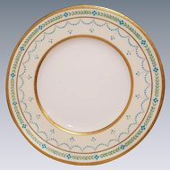 8 Minton Davis Collamore & Co. Jeweled Turquoise Luncheon Plates