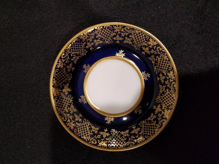 6 Reichenbach Echt Kobalt Cobalt Demitasse Cups \u0026 Saucers Made in Germany With Intricate Gold Design & 6 Reichenbach Echt Kobalt Cobalt Demitasse Cups \u0026 Saucers Made in ...