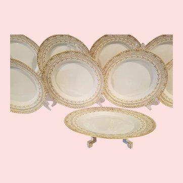 KPM Luncheon Dessert Plates Reticulated Pierced Cake Plate