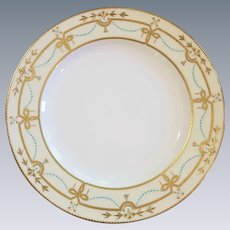 10 Minton for Tiffany& Co. Neoclassical Plates, Turquoise, Gold