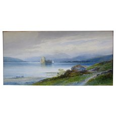 Emil Axel Krause 1871-1945 A Castle And Loch