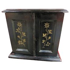 Fine Late Victorian Table Cabinet Jewellery Cabinet / Collectors Cabinet etc