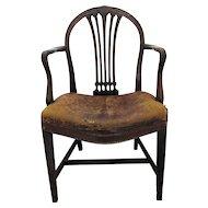 C1760/70 Georgian English Elbow Chair
