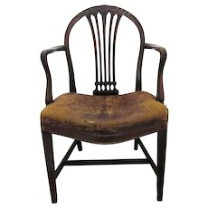 C1760/70 Georgian English Elbow Chair