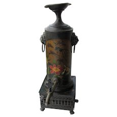 Unusual Regency Tole Peinte Tea Urn