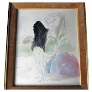 Marcel Vertes 1895-1961 Crayon and Watercolour