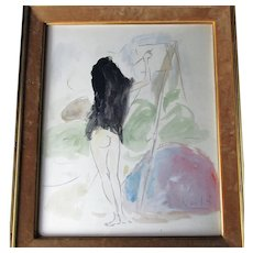 Marcel Vertes 1895-1961 Crayon and Watercolour