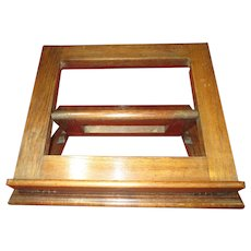Edwardian Oak English Adgustable Bookstand