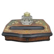 Fine Victorian Desk Tidy / Ink Well/ Standish