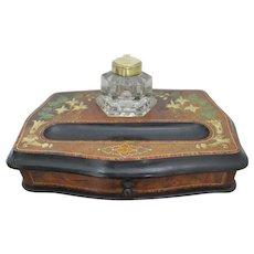 Fine Victorian Desk Tidy / Ink Well/ Standish